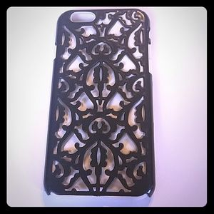 iphone6 case black white filligree